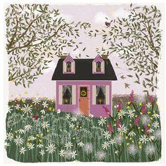 Print for Sale - Lavender House on a Hill - Image © Joy Laforme