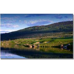 Trademark Fine Art Golf 9 inch Canvas Wall Art, Size: 24 x 47, Multicolor