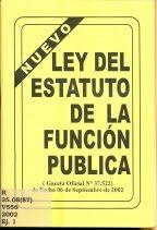 LEY DEL ESTATUTO DE LA FUNCIÓN PUBLICA (DESCARGA AL FINAL)
