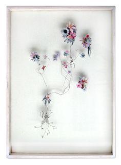 Flower construction #11 (w:50 h:70 d:6.5 cm)