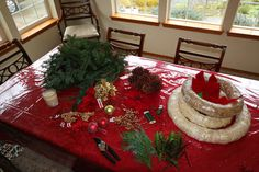 A step-by-step tutorial with pictures, tips and ideas for making your own Homemade Christmas Wreath and Advent Wreath.