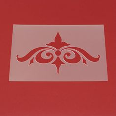 Schablone Barock Ornament - MO55   von Lunatik-Style via dawanda.com