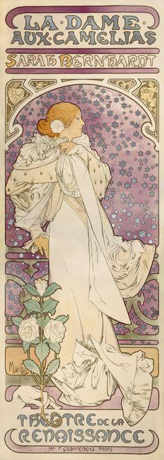 'La Dame aux Camélias' (The Lady of the Camellias) (1896) - Alphonse Mucha (1860-1939)