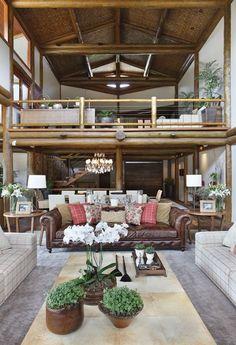 Uma megacasa no alto da montanha - Casa Vogue   Interiores