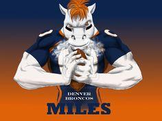 Denver Broncos Miles Cool Art Wallpaper