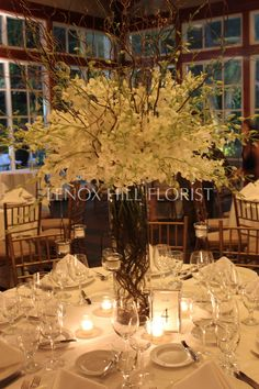 Tall Centerpiece - Flower Arrangements - Wedding - Events - Weddings - Tall Centerpieces