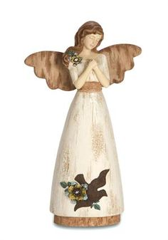 """A sweet and graceful angels reminds us of a """"life so beautifully lived...a heart so deeply loved..."""" #MemorialAngel #Condolence"""