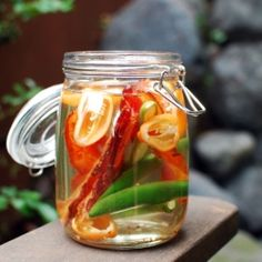 bacon habanero infused vodka (this makes a killer bloody mary)