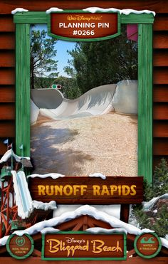 Walt Disney World Planning Pins: Runoff Rapids