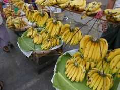 Day 23: Bananas!  I really do enjoy exploring street markets and today I came across this cracking display of bananas in Yangon (Rangoon) Myanmar (Burma).