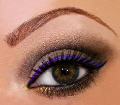 Hint of Purple and dash of gold with a bit of cocoa! This will be good for me cuz gold eyeshadow goes with my skin