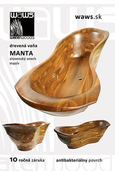 Wooden Bathtub MANTA
