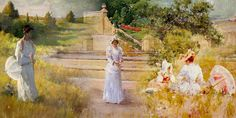 """William Merritt Chase was an American painter who thrived during America's Gilded Age. He is best known for his portraits and landscapes in the impressionist """"en plein air"""" (painted outdoors) style. Victorian London, Victorian Era, Alexandra Of Denmark, Christian Charities, All The Princesses, Great Fire Of London, American Impressionism, Russian Culture, Art"""