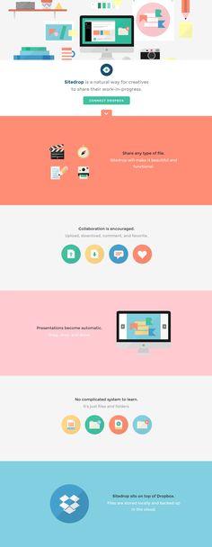 #Flat #website #design