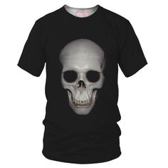 Human Skull T-Shirt - Special 3D Sublimation Printing Technique - Sale available on shirts, tshirts, sweatshirts (jumpers) and hoodies.