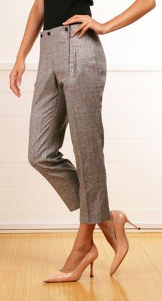 Business casual, but still so sexy for a pair of grey pants.