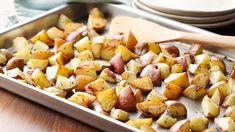 These oven-roasted potatoes take just 30 minutes, and they're ready to serve as a side dish.