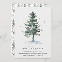 Winter Splendor | Holiday Party Invitation Cocktail Party Invitation, Brunch Invitations, Holiday Party Invitations, Invitation Ideas, Merry Christmas And Happy New Year, Christmas Greetings, Christmas Holidays, Holiday Parties, Holiday Cards