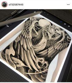 Foo Dog Tattoo, Japan Tattoo Design, Dragon Sleeve Tattoos, Fu Dog, Japanese Design, Skin Art, Blackwork, Dragon Ball, Tattoo Designs