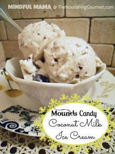 Mounds Candy Coconut Milk Ice Cream (from The Nourishing Gourmet).