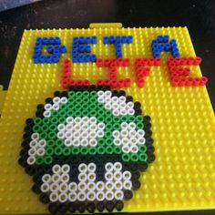 Get A Life perler beads by tpsberry