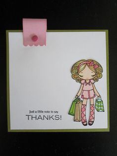 Thank you card using Greeting Farm stamp.