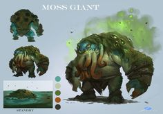 ArtStation - design for last project----<龙骑战歌>[moss giant], Xuexiang Zhang