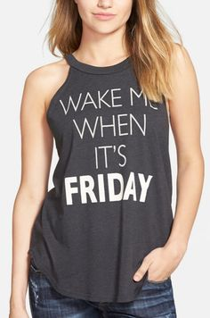 Can't wait to wear this silly graphic tank next Monday,