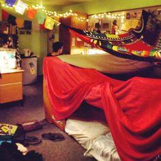 Dorm fort! I love the cozy feel
