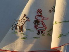 French Vintage Linen Sheet and Matching Pillow Case by GoshnPoche, $60.00