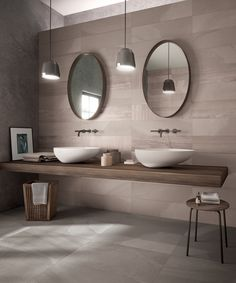 What's the next biggest bathroom design trend for This year's 2017 bathroom trends is all about longevity, timeless beauty that stands the test of time. Bathroom Trends, Bathroom Inspiration, Big Bathrooms, Round Mirror Bathroom, Wall And Floor Tiles, Bathroom Shower, Steam Showers Bathroom, Bathroom Design, Bathroom