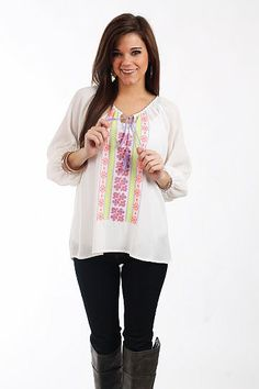 Bohemian Bree Top, white