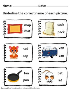 Naming Picture Objects Worksheet Free Printable Worksheets, Worksheets For Kids, Free Printables, Hollywood Bulletin Boards, Name Pictures, Lessons For Kids, Phonics, Objects, Cards