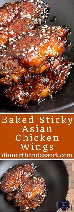 Sticky Asian chicken wings made with a hoisin take on a Mongolian beef marinade. They're sweet, savory, garlicky, just plain awesome and basically begging to be made for your Superbowl party!