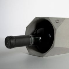 Designed by Francisco Corvi, from PPi3D, Corvi Handcrafted Concrete Wine Cooler is an... - UPVISUALLY.COM
