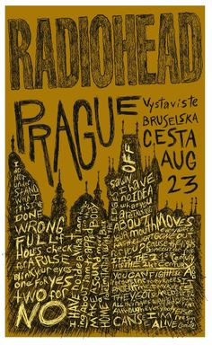 Radiohead Poster by Bruce Young