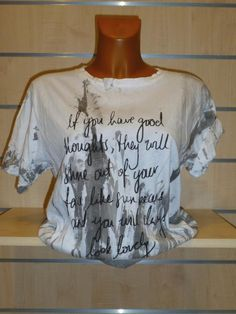 Tee-shirt blanc Good Carla Giannini