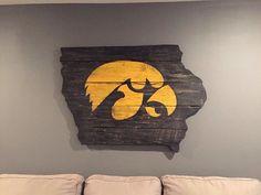 2' x 3' Iowa Hawkeye wall sign by Thruthebarndoor on Etsy