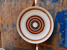 Stoneware Bread Cake Plate Royal China Jeannette Santa Fe