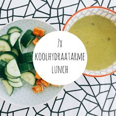 Eet jij koolhydraatarm en vind jij het soms lastig om verschillende lunch ideeën te bedenken? Ik deel vandaag 7x koolhydraatarme lunch ideeën! Healthy Diet Recipes, Clean Recipes, Veggie Recipes, Healthy Eating, Healthy Food, Low Carb Lunch, Low Carb Diet, Smoothie, Clean Lunches