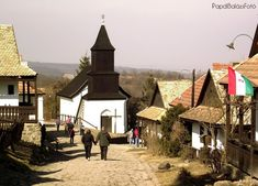 Hollókő, the most beautiful traditional Hungarian village and also a UNESCO World Heritage Site Oh The Places You'll Go, Places To Visit, Wonderful Places, Beautiful Places, Heart Of Europe, Austro Hungarian, Budapest Hungary, Pompeii, World Heritage Sites