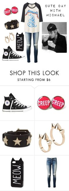 """""""5sos Preference: Cute day with your baby (Michael)"""" by jazziwheat ❤ liked on Polyvore featuring moda, Converse, Givenchy, MANGO, H&M, rag & bone, Uniqlo, women's clothing, women i female"""