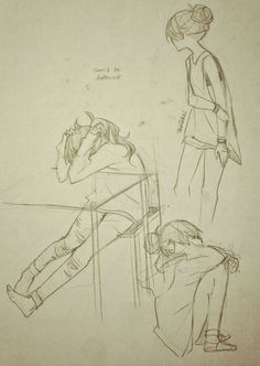 pencil sketches; tween in helpless angst.  Have found their agon.