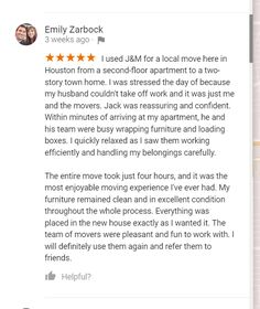 What Does Emily Has To Say About Our Moving Services? Texas Move It