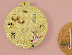 Embroidery Hoop Jewelry Holder
