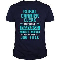 RURAL CARRIER CLERK T-Shirts, Hoodies. SHOPPING NOW ==► https://www.sunfrog.com/LifeStyle/RURAL-CARRIER-CLERK-Navy-Blue-Guys.html?id=41382