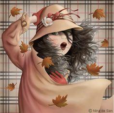¡Llegó el otoño!☁️☔️ las hojas bailan e inician la danza de soltárse, mientras el viento sopla su canción deshilvanada...