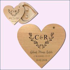 Afrikaans Custom Heart Ring Holders for weddings South Africa - Polkadot Box