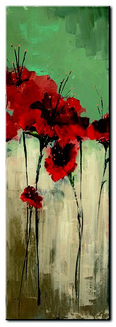 Stretched Canvas Print: From Scarlett's Garden II by Luis Solis : Wall Art Prints, Framed Prints, Stretched Canvas Prints, Flower Art, Find Art, Giclee Print, Abstract Art, Canvas Art, Cotton Canvas