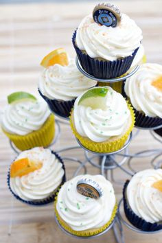 Blue Moon and Corona Cupcakes: Replace dad's cold one with a sweet one. Click through to find some more easy Father's Day cupcake and cake decorating ideas.